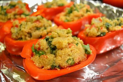 Quinoa Stuffed Peppers.