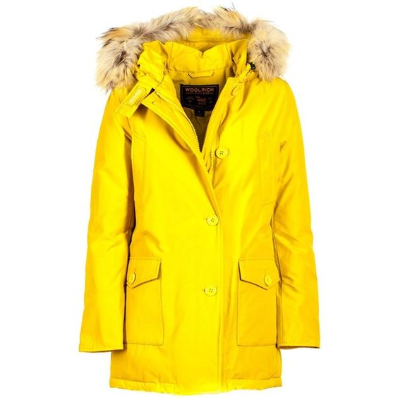 Df Arctic Parka 675 Liked On Polyvore Featuring Outerwear Coats Yellow Woolrich Arctic Parka Yellow Coat Raccoon Arctic Parka Parka Raccoon Fur Coat