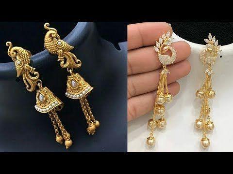 Amazing Long Earrings Design Images For Girls 2018 New Fashion Earrings Photos Fancy Earrings Y Fancy Earrings Gold Earrings Designs New Fashion Earrings