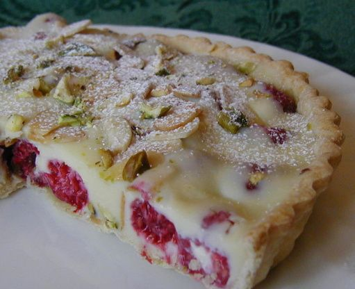 White Chocolate-Raspberry Tart, With Almonds and Pistachios | Recipe ...