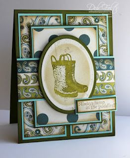 """Gourmet Rubber Stamps """"Wellies"""" with supplies from ihp"""