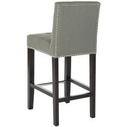$215  Safavieh Noho Grey Linen Nailhead Trim 25.8-inch Counter Stool - Overstock Shopping - Great Deals on Safavieh Bar Stools