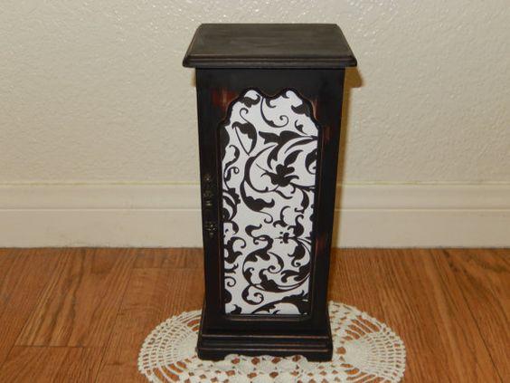Vintage Black Filigree Jewelry Box by SeaGreenSeeBlue on Etsy, $11.99