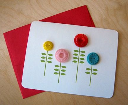 ~card making with buttons
