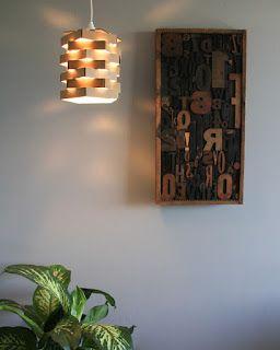 Cantinho arrumadinho: Luminária DIY