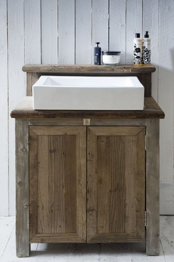 Idee n voor mijn kleine badkamer badkamers pinterest rustieke ijdelheid ijdelheden en - Kleine ijdelheid ...