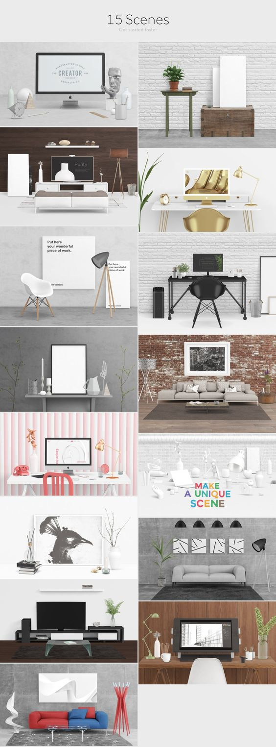 Scene Creator [Front View] by Qeaql on @creativemarket $29.00