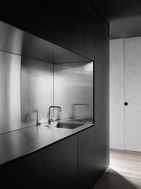 ステンレス キッチン シンプル I型 ミニマム