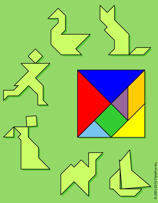 puzzle playground  the tangram printable brainteaser