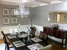 In This Staged Dining Room We Merged Modern Glam With Traditional Furnishings And Painted The Damaged