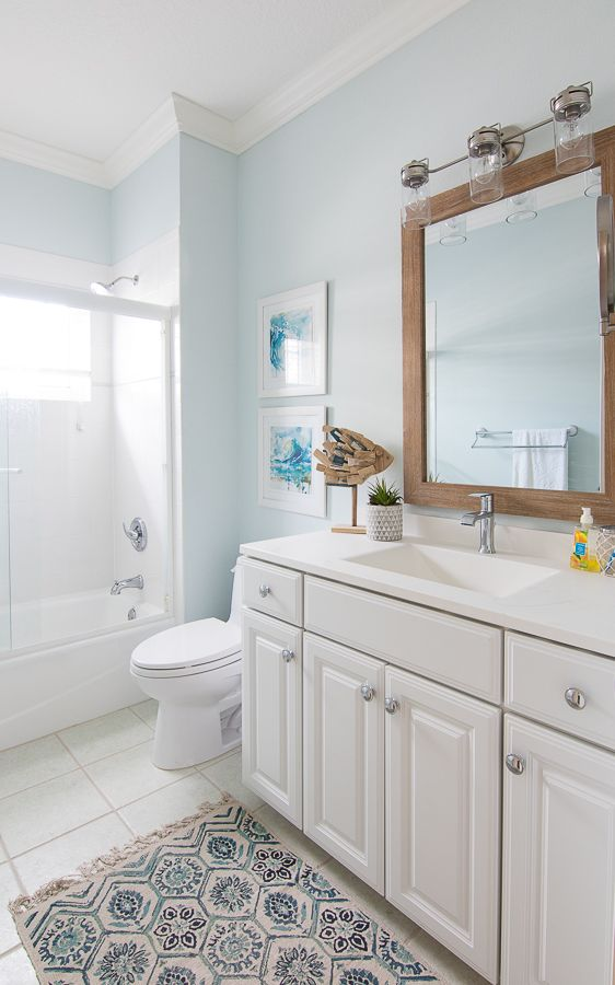 Coastal Bathroom Makeover Beautiful Bathroom Decor Bathroom