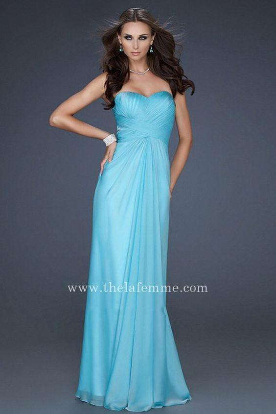 Aqua Alluring La Femme 17651 Strapless Long Prom Dresses Cheap ...