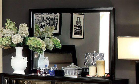 Kastas Modern Wood-Framed Mirror – Modish Store