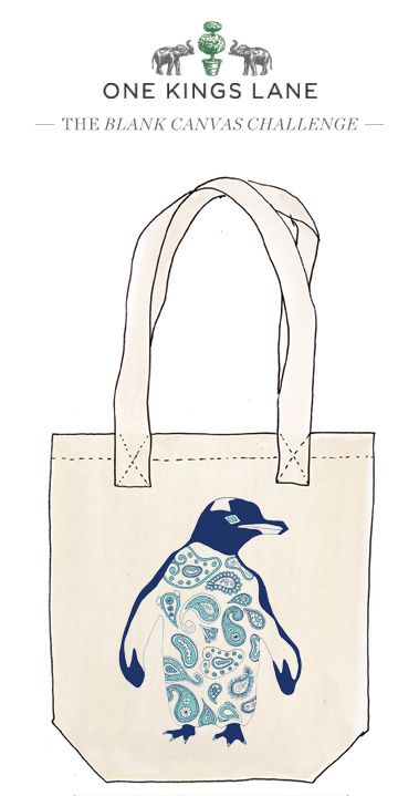 Love this tote by artist Margaret Garrand? Vote by re-pinning it and check out the contest rules at www.onekingslane.com/designchallenge for more info!