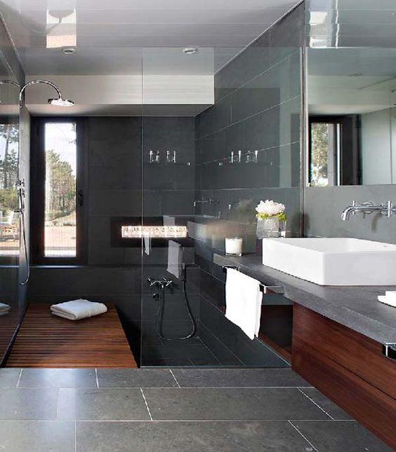 Amazing #bathroom design-ideas-at-Contemporary-Home-Design-by-Lagula-Arquitectes #wood #modern