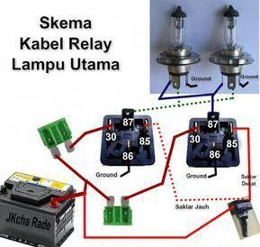 Fungsi Relay Lampu Mobil Dan Cara Pemasangannya Trailer Light Wiring Car Ecu Automotive Electrical
