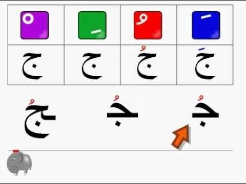 1 4 Tachkil Arabic Letters Tachkil Des Lettres Arabes تشكيل الحروف Youtube Alphabet Mobile App Arabic Language