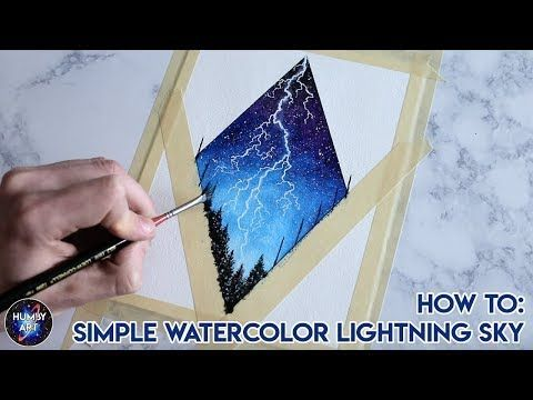 16 How To Paint Simple Watercolor Lightning Diamond Youtube
