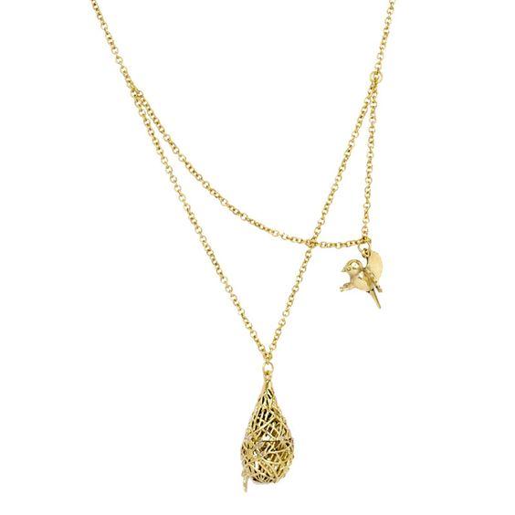 Monserat de Lucca- Brass Small Birdnest Necklace
