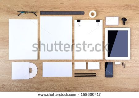 Photo. Template For Branding Identity. For Graphic Designers Presentations And Portfolios. - 158600417 : Shutterstock