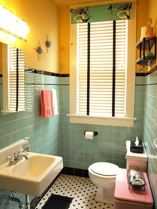 Retro Bathrooms Photo Decorating Inspiration