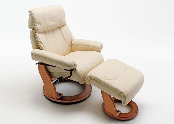 Relaxsessel Winnipeggy Echt Leder Creme 5808. Buy now at https://www.moebel-wohnbar.de/relaxsessel-winnipeggy-fernsehsessel-mit-hocker-echleder-creme-5808.html