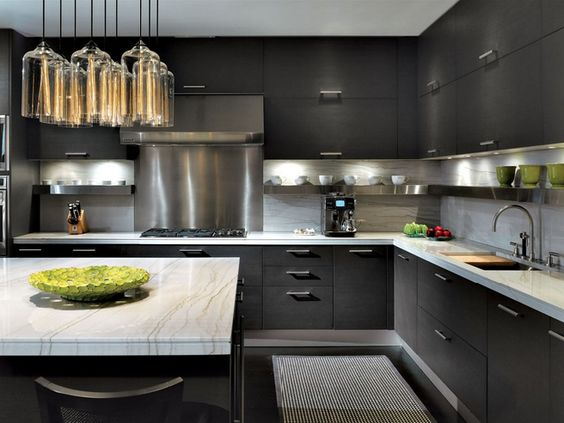 dark cabinets love the the cabinet lighter love kitchens ideas modern