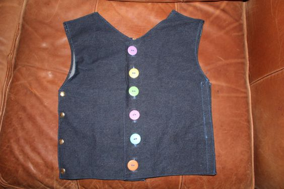 Dressing Vest with zipper buttons velcro and snaps by HomeGrownOT, $50.00: