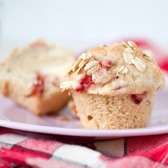 Strawberry Rhubarb Muffins