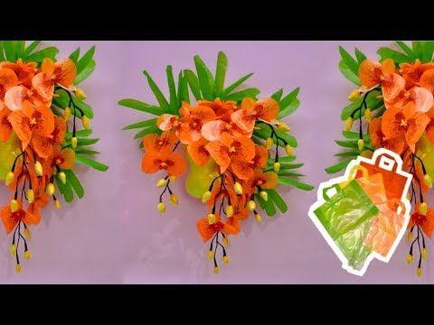 Cara Membuat Bunga Anggrek Dari Plastik Kresek Dan Botol Bekas How To Make Flower Plastic Youtube Bunga Bunga Botol Plastik Botol Plastik