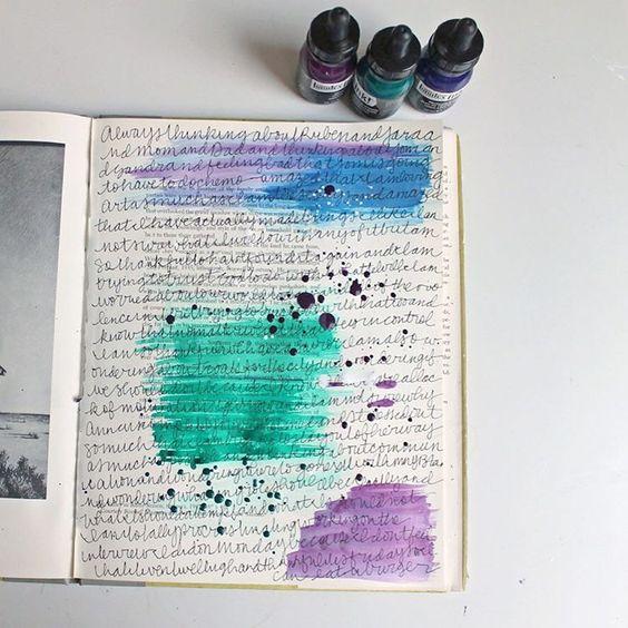 @kellietakesanote | Instagram | Season of Introspection | Get Messy Art Journal