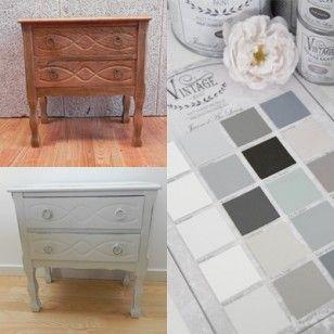 Vintage Paint la vernice gesso disponibile in 20 colori pronta da acquistare online, ricolora facilmente vecchi mobili senza primer senza carteggiare
