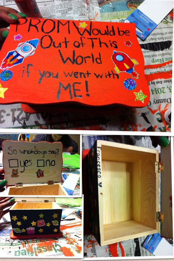 Outer space promposal made by me and anna loveee for What is outer space made of