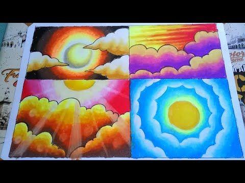 Tips Dan Cara Mewarnai Langit Dengan Gradasi Crayon Youtube