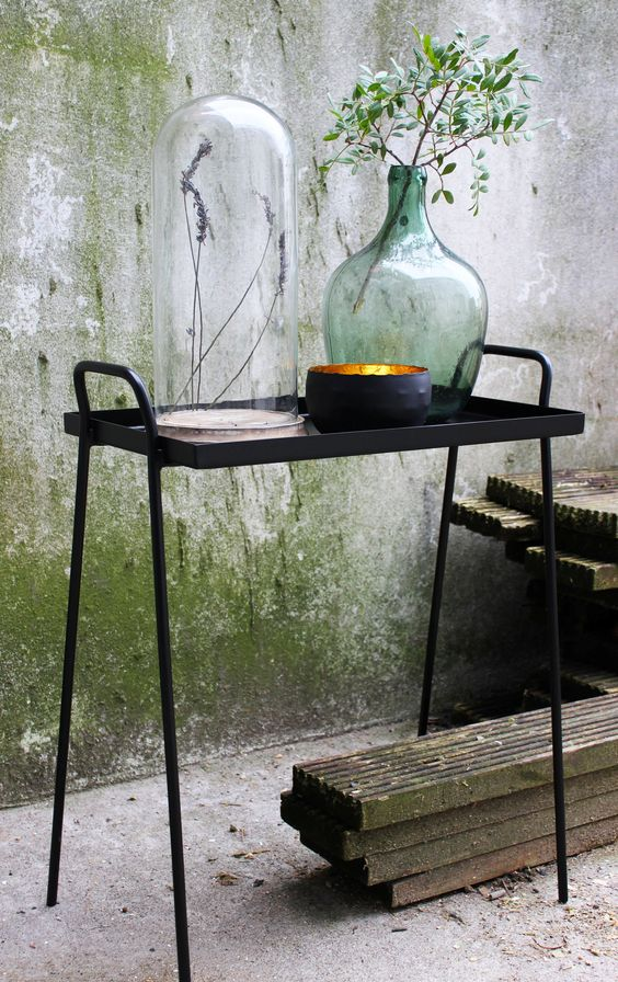 Sleek and Contemporary sidetable from April and the Bear - www.aprilandthebear.com.