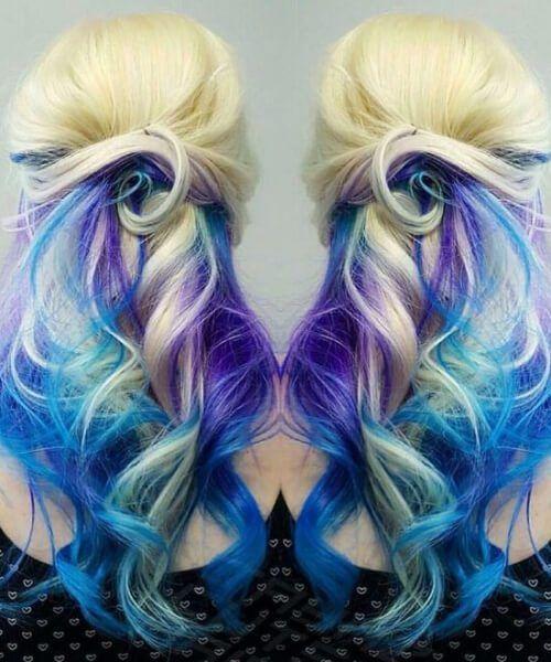 40 Beautiful Ideas For Mermaid Hair Hair Color Blue Purple Hair