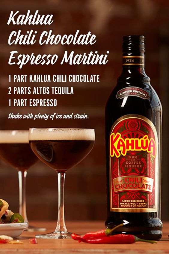Try the new Kahlua Chili Chocolate Espresso Martini for a holiday ...