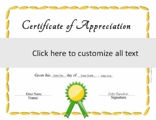 Free Editable Certificate Template Customize Online Print At Home Editable Certificates Certificate Templates Free Certificate Templates