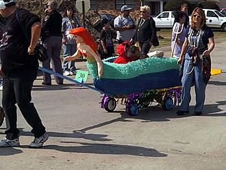 Miniature Model Mardigras Float: