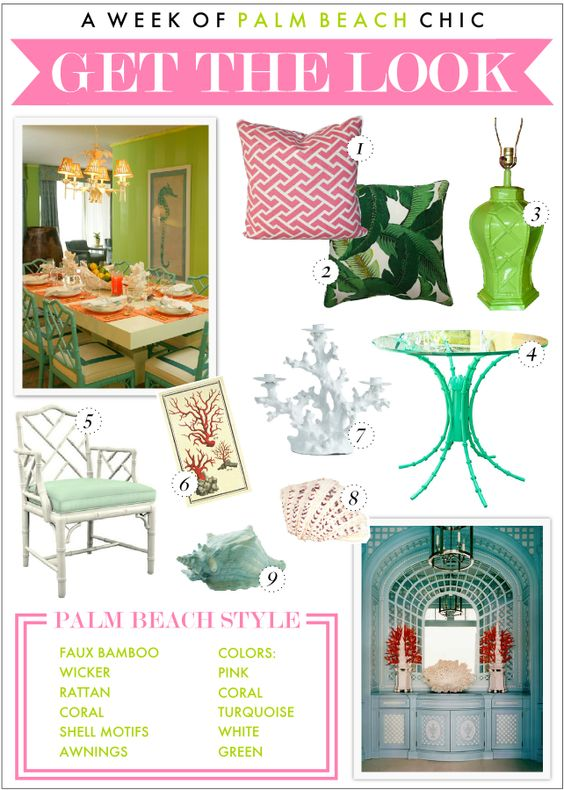 Palm Beach Chic....Get the Look