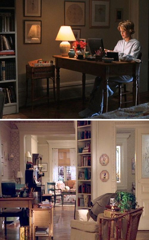 "This isn't exactly my style, but I thought some of you might be interested in this blog post that breaks down the home decor of Meg Ryan's apartment in ""You've Got Mail"" so that you can recreate it in your own home."