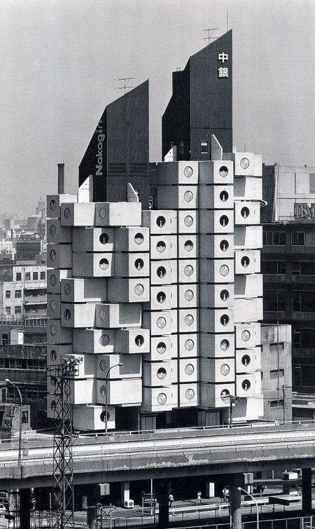 Kurokawa, Kisho - Nakagin Capsule Tower, Tokyo, Japon (黑川紀章 / Nakagin 膠囊塔 1972)