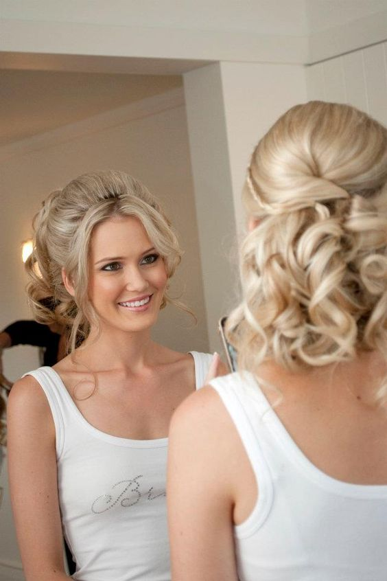Soft Updo Easy To Wear Long Hair Styling Wedding Hair Styling Curls Height And Softness ...