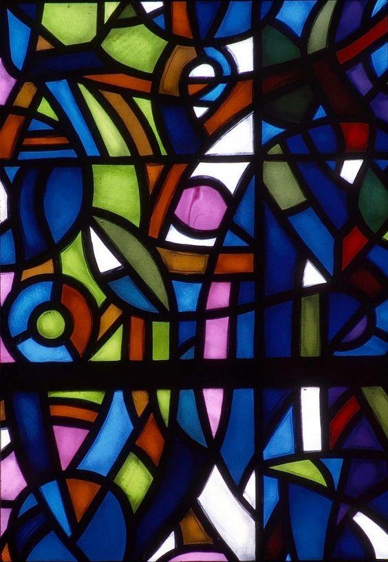 Sergio de Castro, détail de la fenêtre de l'Arbre de Jessé (J de Jessé). Vitraux pour la Collégiale de Romont (Suisse), 1980.   Source: www.sergiodecastro.org
