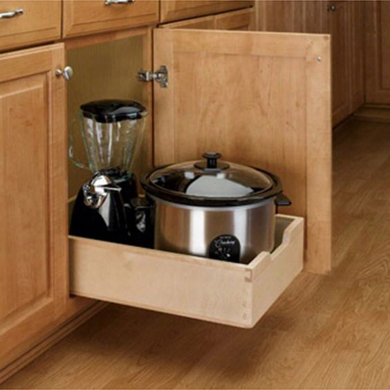 Small Wood Pull-Out Drawer, Wood - Maple (4WDB-12) | Drawers ...