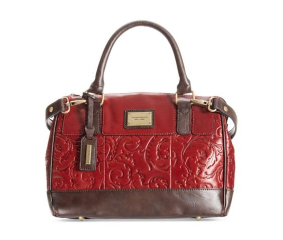 Tignanello Classic Beauty Embossed Vintage Leather Status Satchel - Tignanello - Handbags & Accessories - Macy's