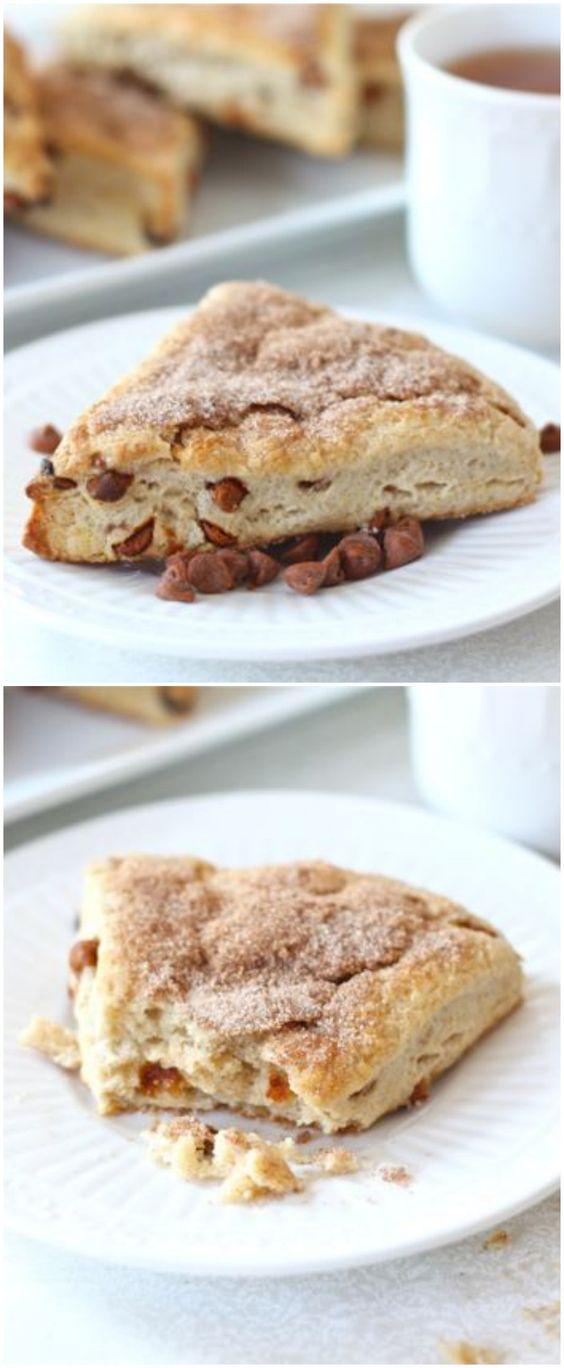 Cinnamon Scone Recipe on twopeasandtheirpod.com Love these sweet ...