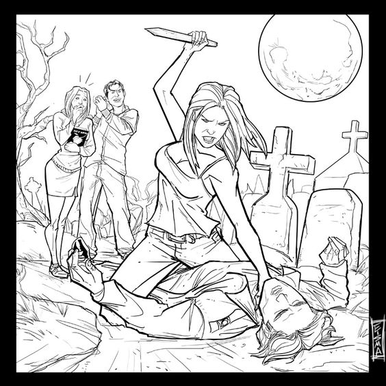 Buffy The Vire Slayer Coloring Pages 7 Coloring Buffy The Vire Slayer Coloring Pages