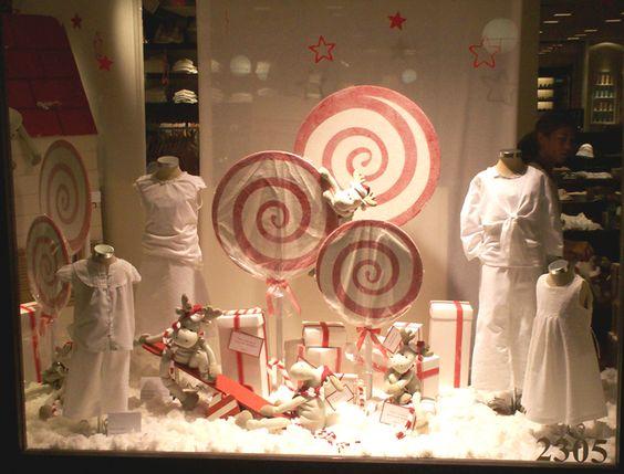 Ideas navide as para decorar vidrieras - Adornar escaparate navidad ...