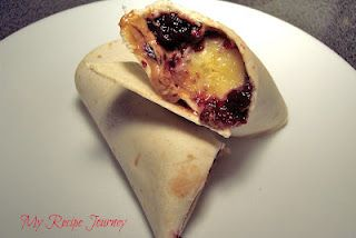 Peanut Butter and Jelly Banana Burritos!